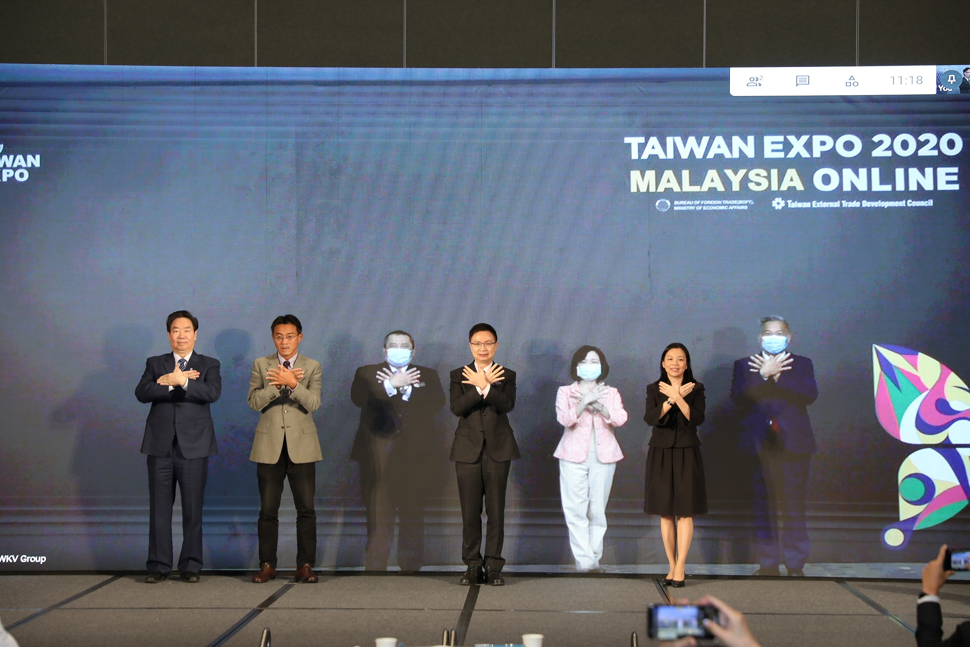 Group photo from the opening ceremony of the 2020 Online Taiwan Expo Malaysia.